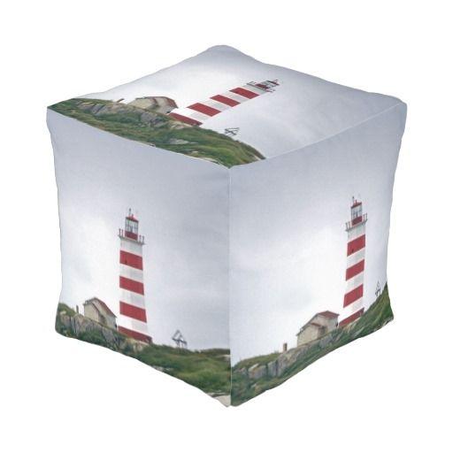 Sambro Island Lighthouse - cube pouf