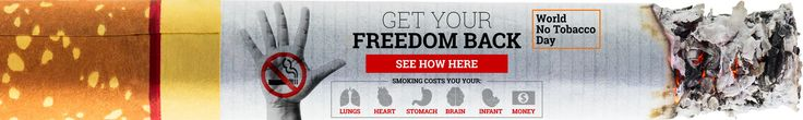 Today is World No Tobacco Day. If you are a tobacco user, challenge yourself and don't use any tobacco products for 24 hours. Take the time to learn about the health problems caused by tobacco and come up with a plan to quit permanently. eVitamins offer natural alternatives when you are ready to quit smoking.