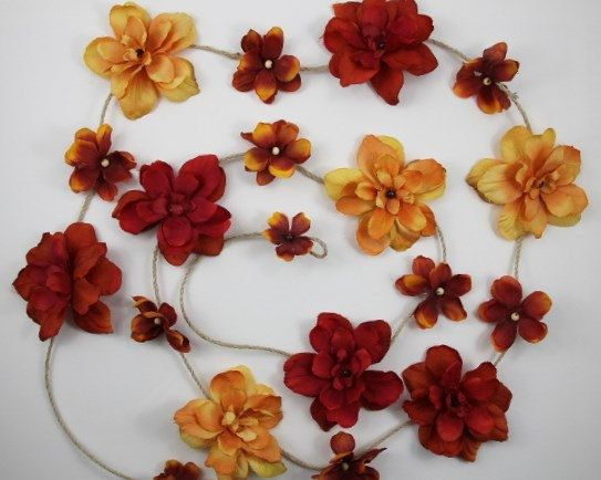 Flower Garland, Party Garland, Boho Hippie Decor, Bedroom Wall Decor, Apartment Decoration, Dorm Room