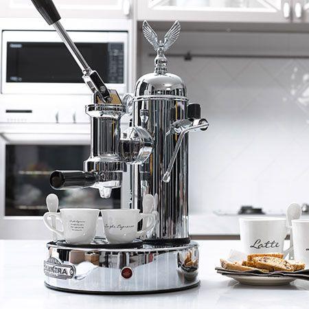 Another pinner: Elektra Italian Espresso Machine-beautiful. It's like the Rolls Royce of Espresso machines.