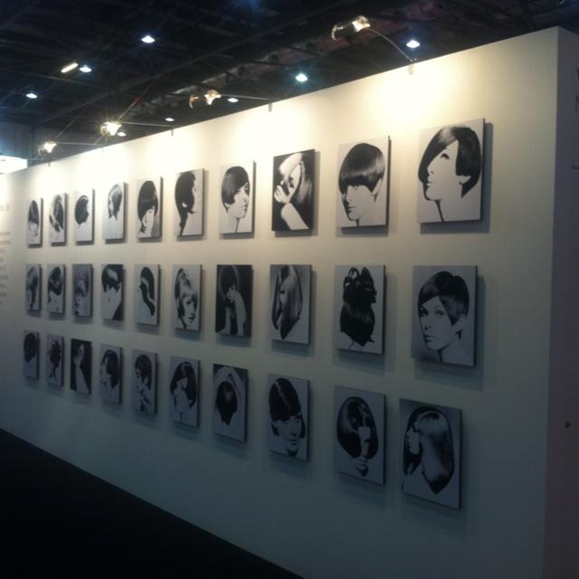 Vidal Sassoon tribute wall at Salon International 2012
