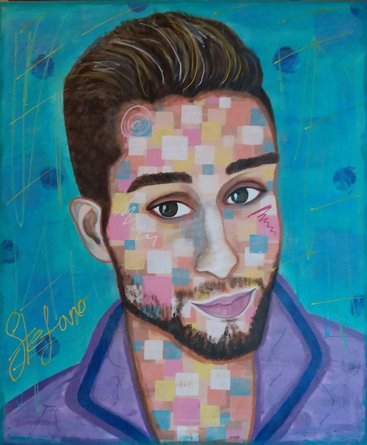 "Maximilian by STEFANO acrylic on canvas(50x60cm) ""the guys on instagram""2015 fashion art,acrylic,painting,portrait,man,painter. faces"