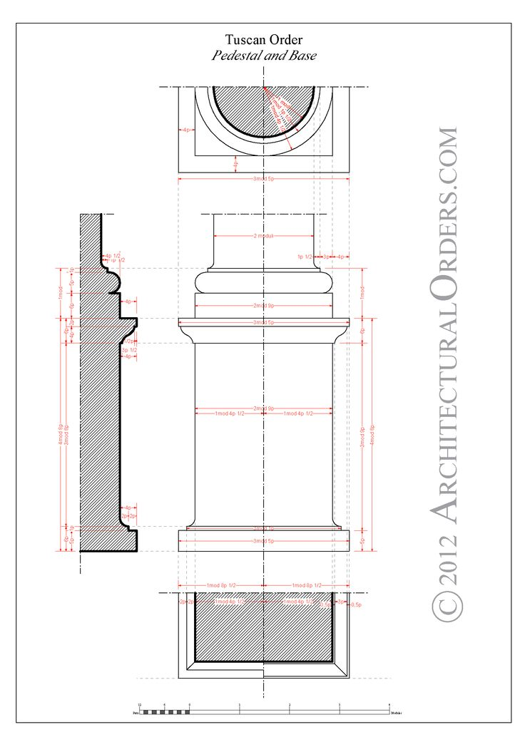 Tuscan Orders Base And Pedestal Architecture
