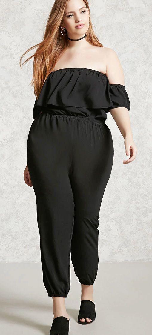 Plus Size Ruffled Jumpsuit