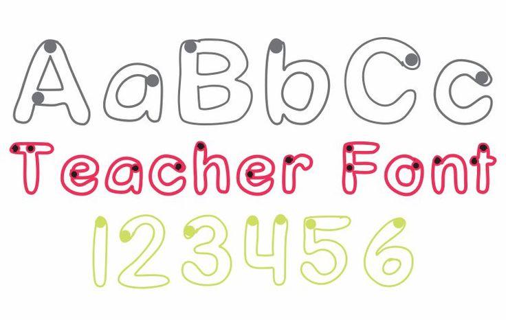 Starting Dots Trace Font Teacher Font - Free Download KindergartenWorks