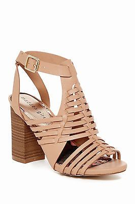 Madden Girl Remiie Shoes Natural Paris Block Heel Strappy Sandals 7 NIB NEW  $70 887865489917 |