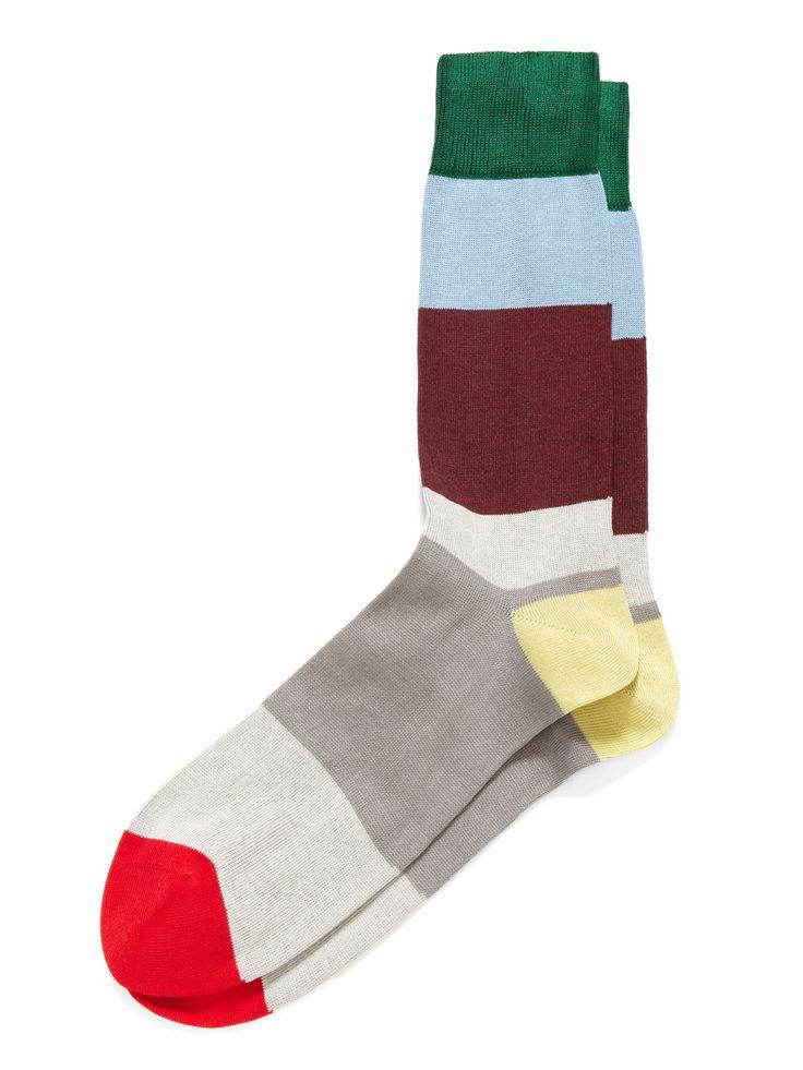 Irregular Block Stripe Socks