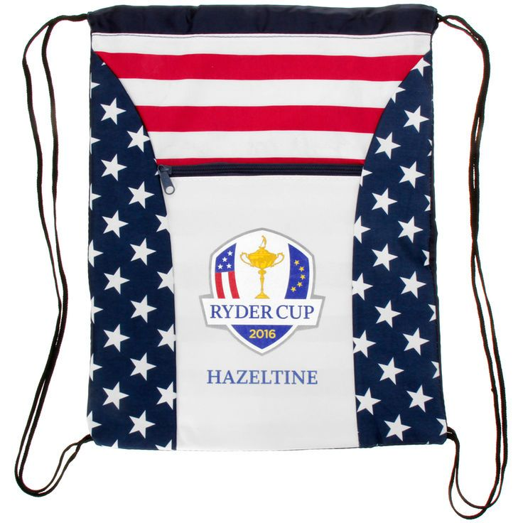 2016 Ryder Cup Stars & Stripes Drawstring Backpack - $12.74