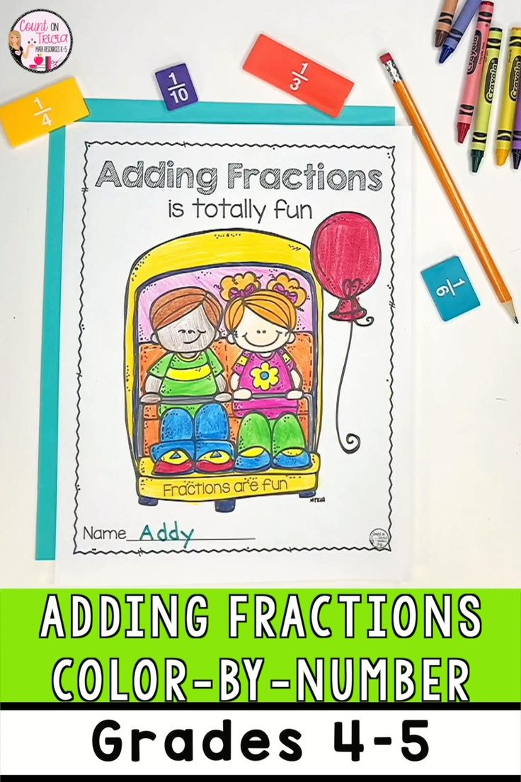 Adding Fractions 4th Grade Video in 2020 | Math ...
