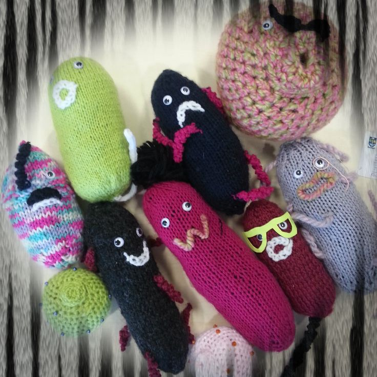 #microbes of the knitted variety - thank you for sending these :-)   http://www.glasgowcityofscience.com/get-involved/knitting-microbes
