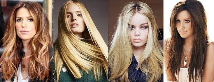 женские стрижки на длинные волосы, тенденции моды 2017 года, фото