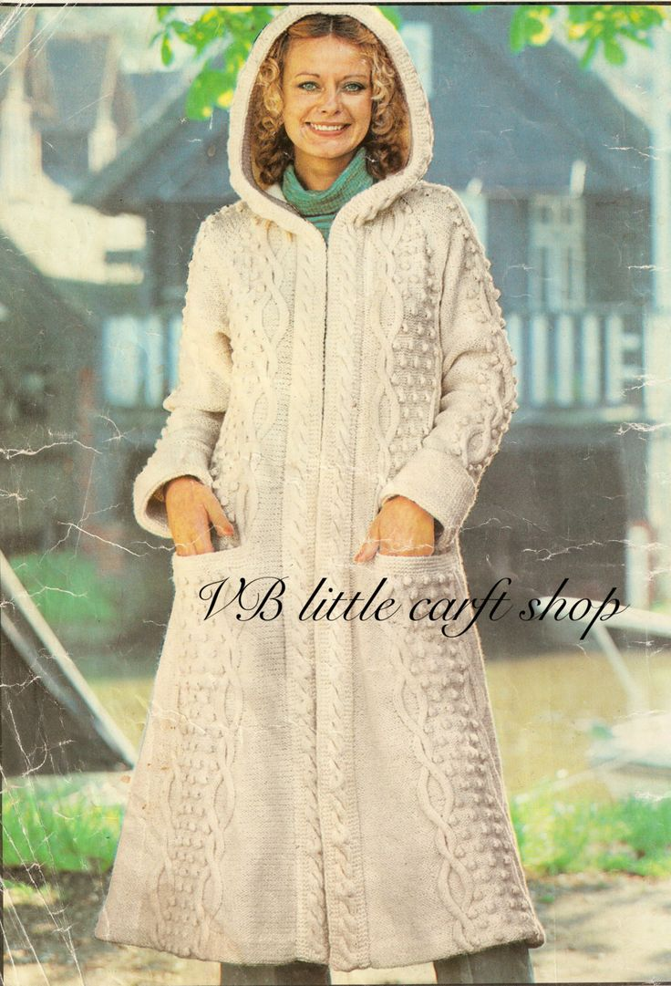 80 best aran knitting patterns collection images on pinterest ladys aran hooded coat knitting pattern instant pdf download by vblittlecraftshop on etsy bankloansurffo Choice Image