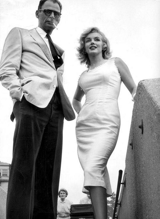 Arthur Miller and Marilyn Monroe in New York, 1957. Photo: Sam Shaw.