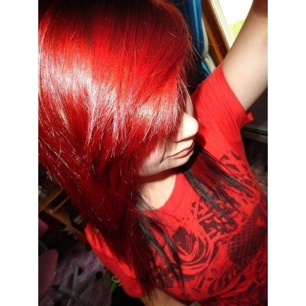 #scene #scene hair #scene girl #red hair ❤ liked on Polyvore featuring beauty products, haircare, hair styling tools and hair