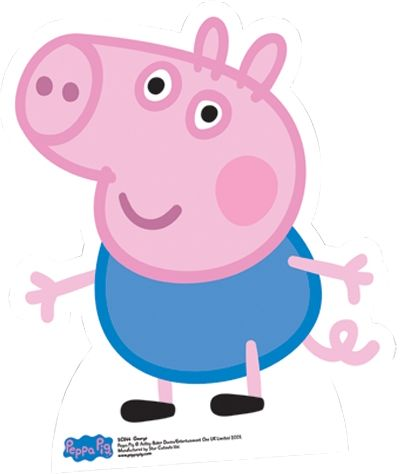 peppa pig birthday large cut outs | peppa pig george cut out standee stasc544 star cutouts write a review ...