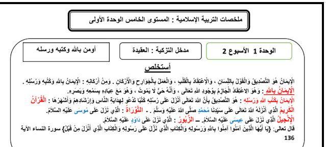 ملخصات التربية الإسلامية الخامس ابتدائي وفق المنهاج المنقح Https Ift Tt 3enr1ev Blog Posts Alphabet Blog