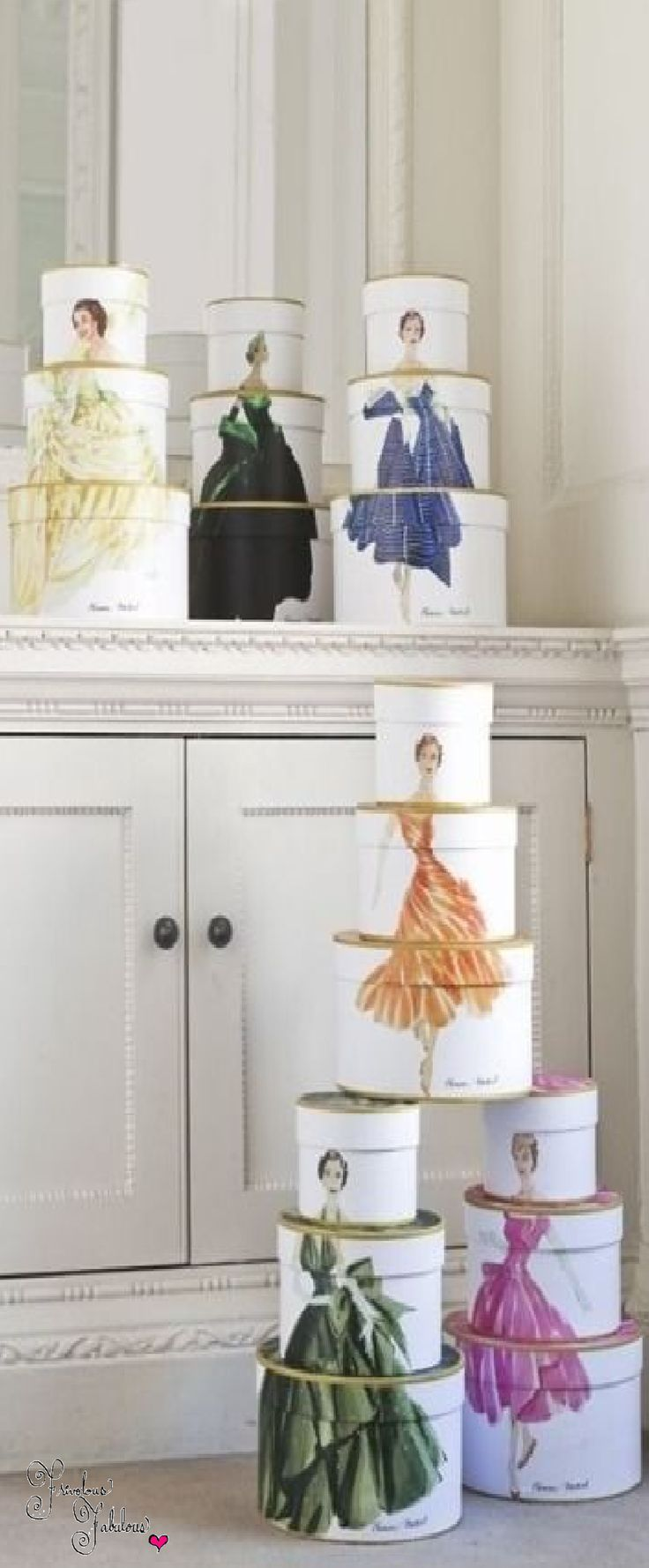 Frivolous Fabulous - Sweet Couture Hat Boxes for Miss Frivolous Fabulous