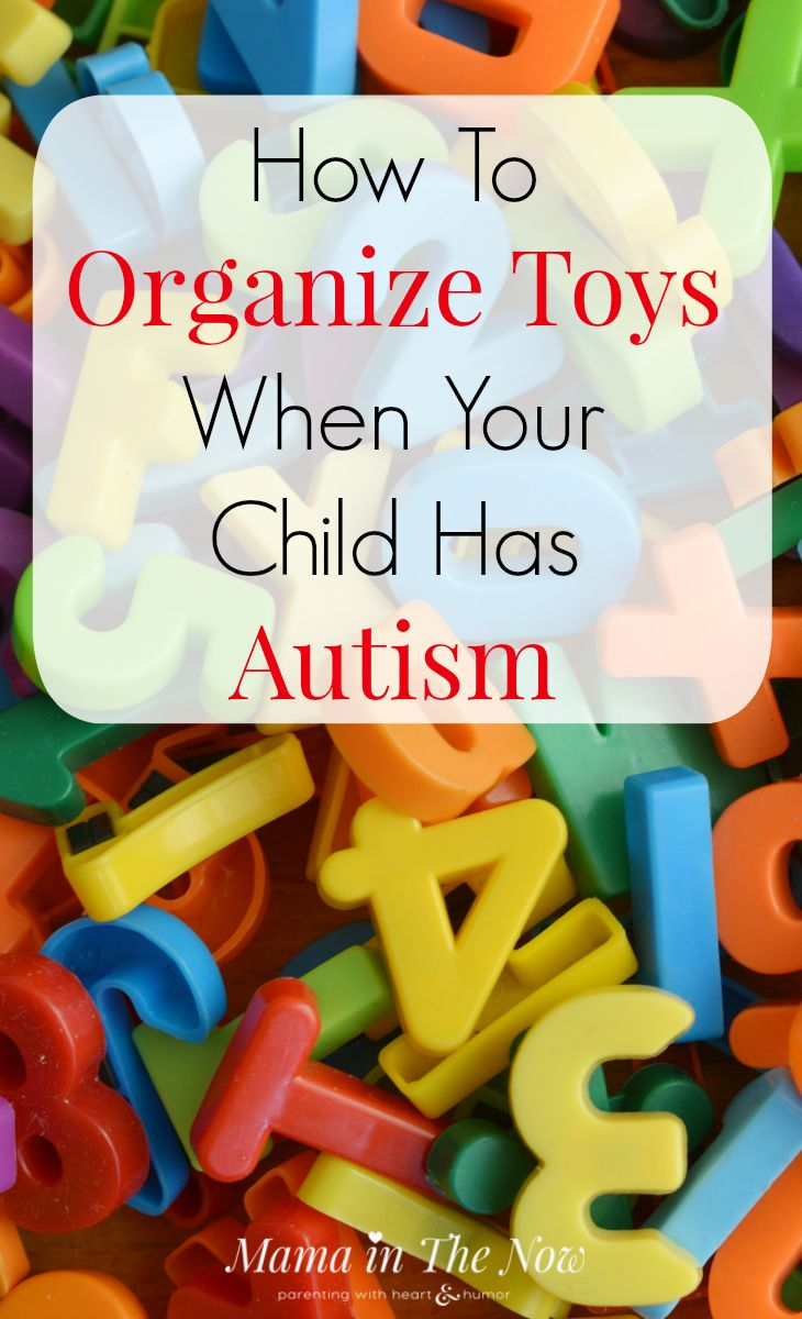 Learn how to organize toys and the playroom for kids on the Autism Spectrum. Special needs moms need these tips and tricks from a professional organizer.
