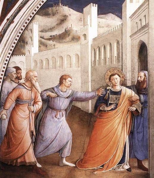 St. Stephen Being Led to his Martyrdom Fra Angelico