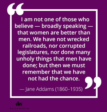 the early life of jane addams Jane addams, (born september 6, 1860, cedarville, illinois, us—died may 21,  1935, chicago, illinois), american social reformer and pacifist,.