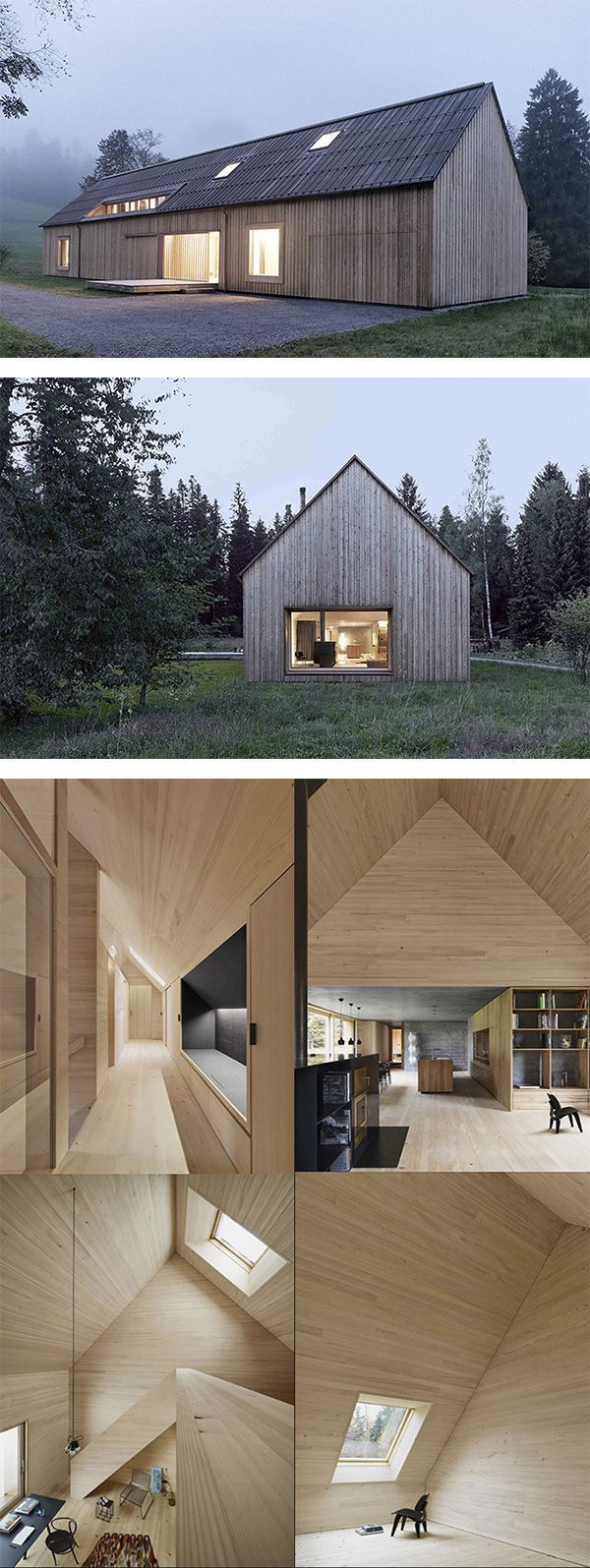 Haus am Moor - Austria This Bernardo Bader designed private home boasts beauty and elegance through simplicity. An exterior reminiscent of Scandinavian barns and a minimalist interior combine to create a unique and understated home.: