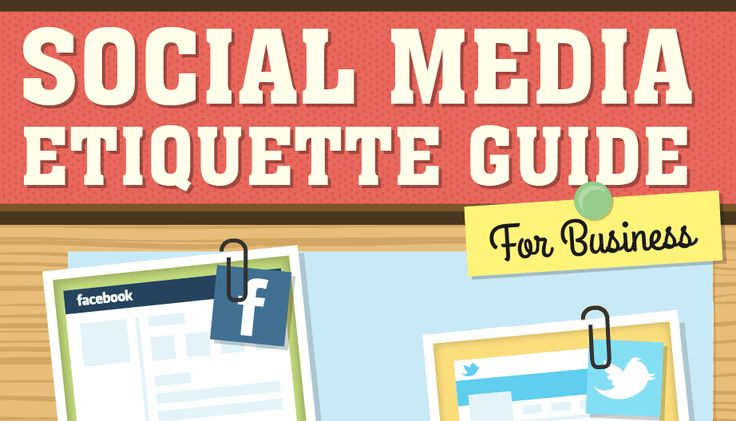 There are plenty of etiquette rules when it comes to social media. This infographic looks at some of them.
