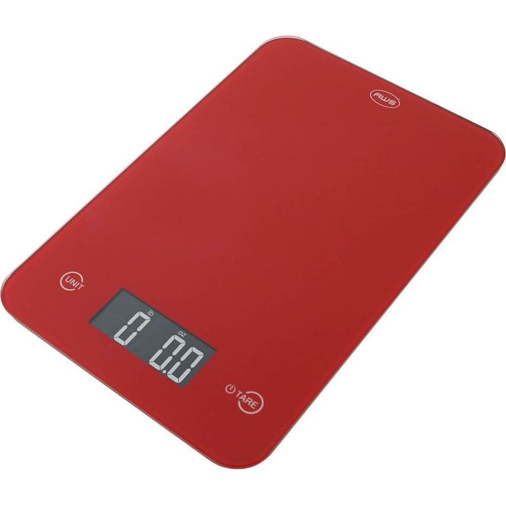 American Weigh Scales - Onyx Digital Kitchen Scale - Red