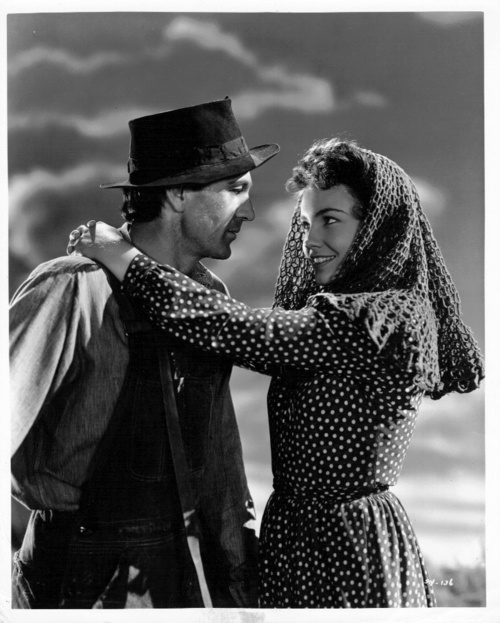 """Sergeant York"" (1941) w/ Gary Cooper as Alvin York and Joan Leslie as Gracie Williams. Leslie was only 16 (!) when she made this movie."
