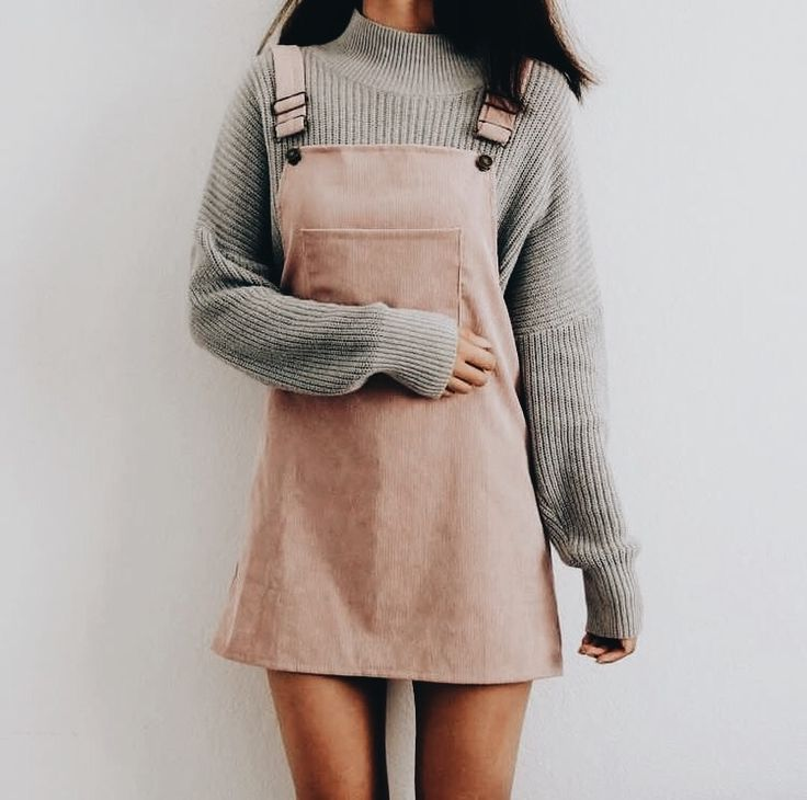 Blush pinafore.