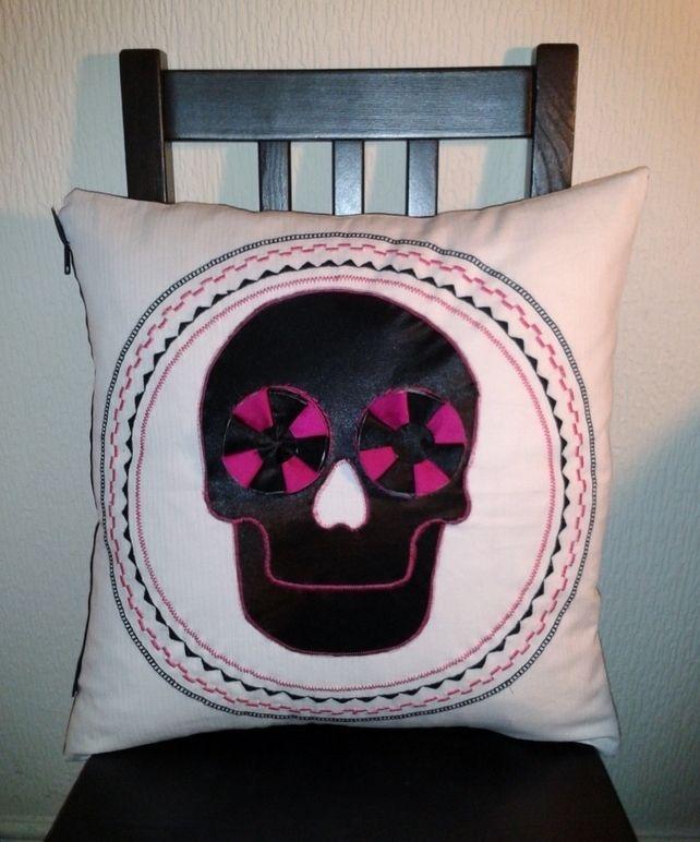 Skull Applique Cushion £15.00