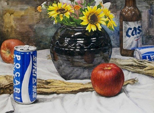 정물수채화, watercolor