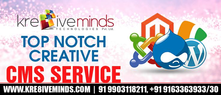 Nothing can get better than this! Top Notch CMS Development service at an affordable price!! Don't let the opportunity flow down. Hurry and contact http://www.kre8iveminds.com/ for availing the best offers and services of the season!
