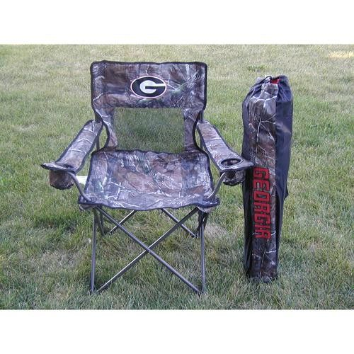 "Georgia Bulldogs NCAA Ultimate Real Tree"" Camo Adult Tailgate Chair"""