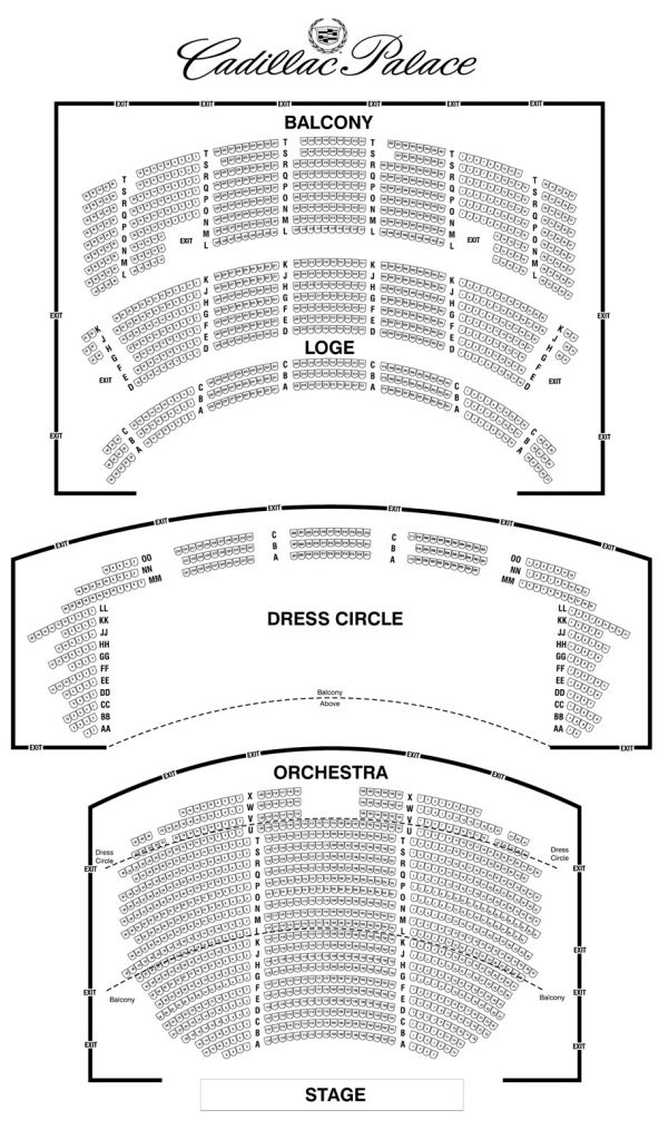 Oriental Theater Chicago Oriental Theater Chicago Theater Chicago Seating Charts
