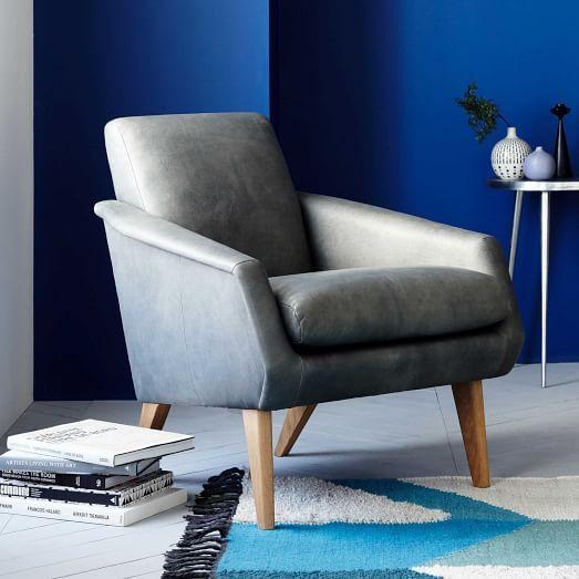 Bruno Leather Armchair | west elm