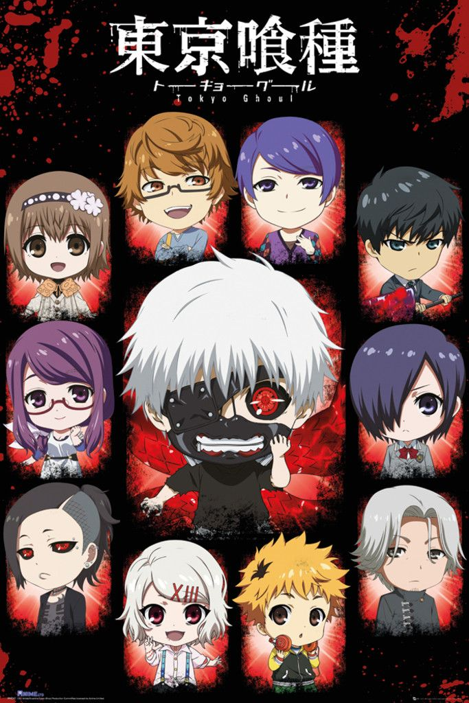 Tokyo Ghoul Chibi Characters - Official Poster I have this poster