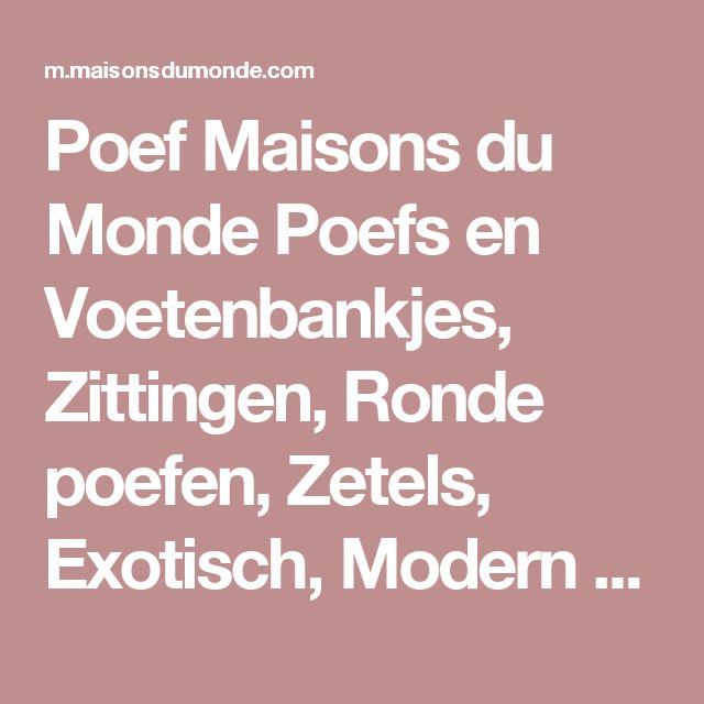 Poef Maisons du Monde Poefs en Voetenbankjes, Zittingen, Ronde poefen, Zetels, Exotisch, Modern design, Industrieel, Platteland, Oranje