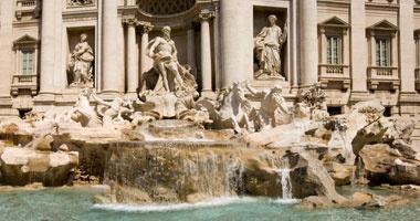 Rome, the famous Trevi Fountain
