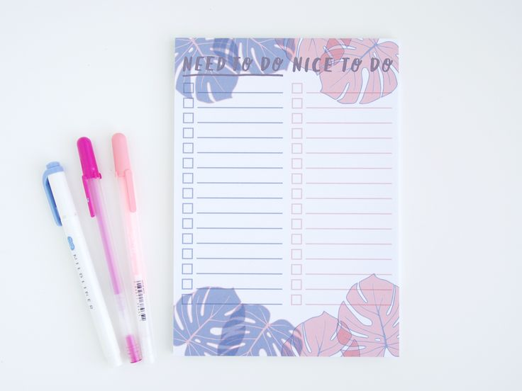 Monstera Leaf A5 Notepad - Need To Do // Nice To Do | http://store.ohnorachio.com/product/monstera-leaf-a6-notepad-need-to-do-nice-to-do