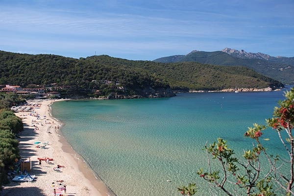 Biodola Beach at Elba Island