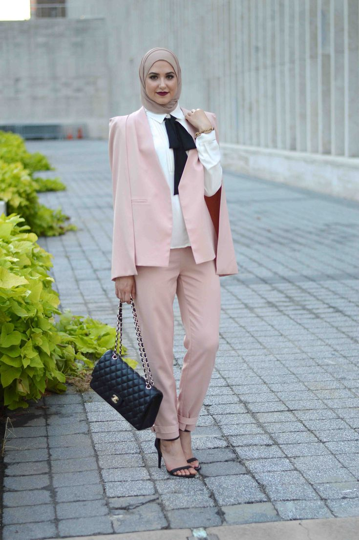 NYFW Street Style, Pink Cape Suit With Love, Leena. – A Fashion + Lifestyle Blog by Leena Asad