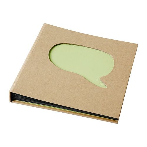 I'm going to get one of these soon. To keep all my thoughts together! SÄRSKILD Photo album/scrapbook IKEA Handmade by a skilled craftsman.