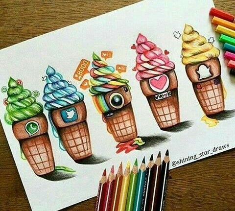 Ice-cream social medias