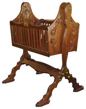 """First Born"" Newborn Sleeping Cradle craftsman-cradles-and-bassinets"