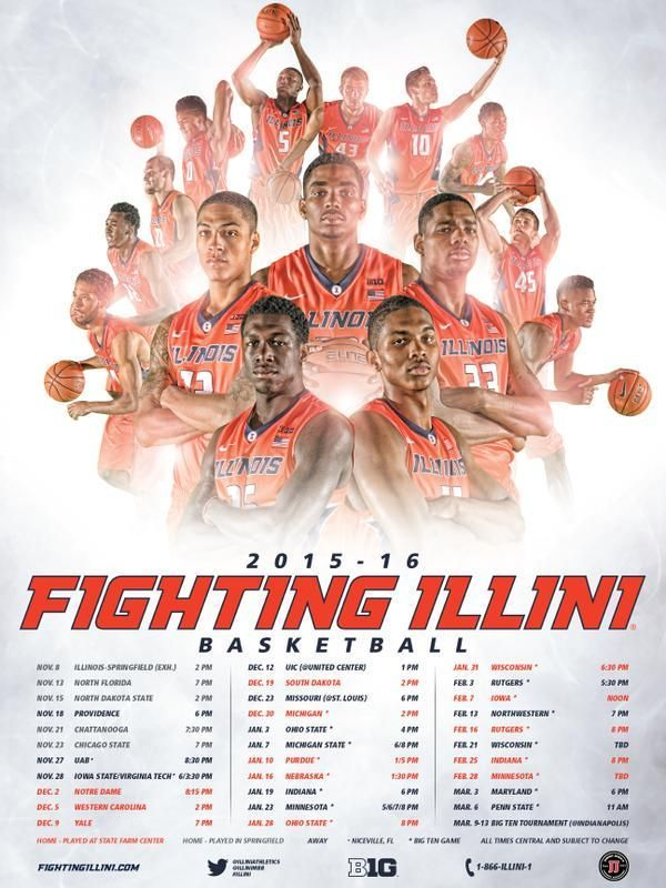 2015-16 Illinois Men's Basketball Poster