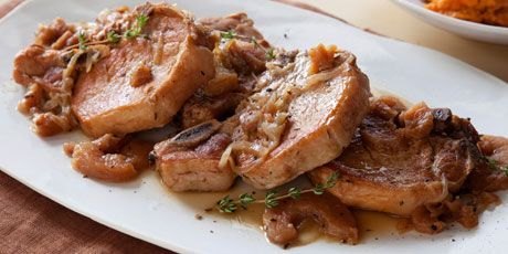 Slow Cooker Pepper Pork Chops...uses dried apples. (double and use pork loin chops cut from loin roast)