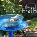Make a Dollar Store Bird Bath for $3