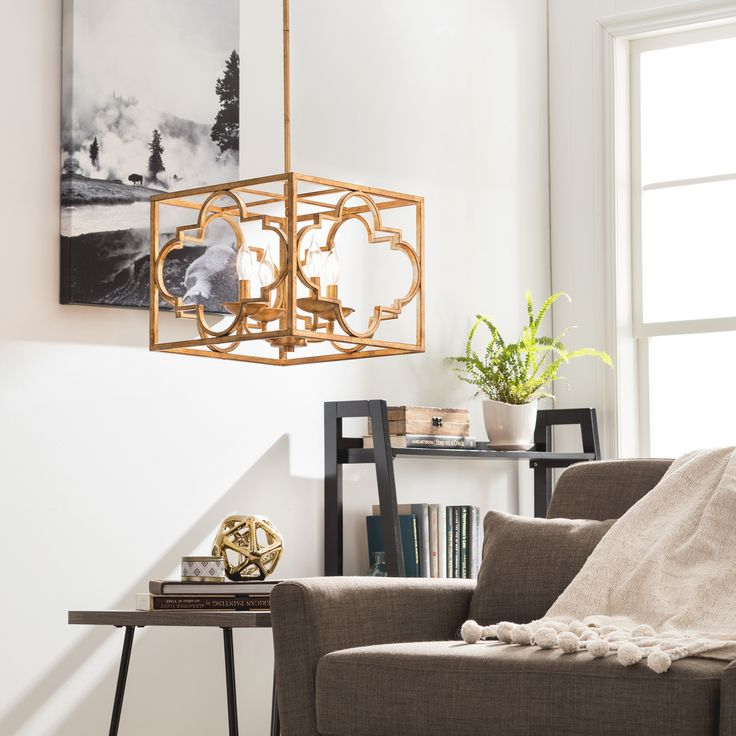 Create A Distinguished And Refined Atmosphere In Your Dining Room With This Four Light Chandelier Moroccan