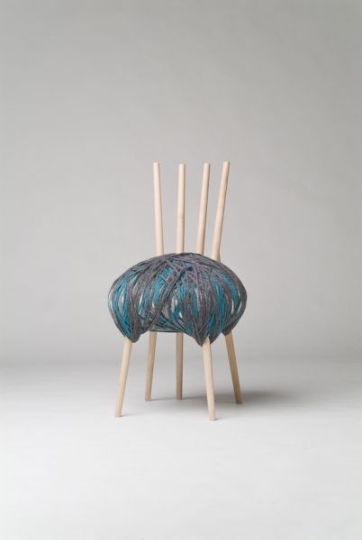 WOOLY'S chair blue   chair . Stuhl .  chaise   Design made in Germany: Susanne Westphal   Photo: Sascha Linke  