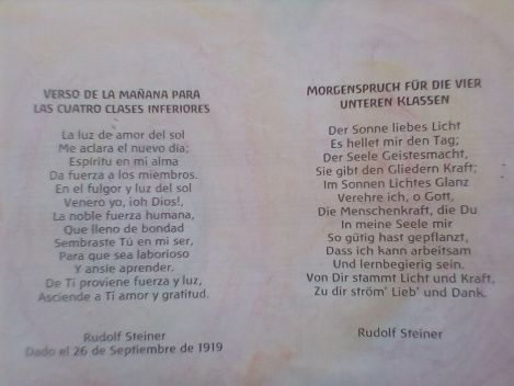 Verso de la mañana para primaria. Rudolf Steiner | Waldorf en casa para Iberoamerica. Autentico material Waldorf Steiner